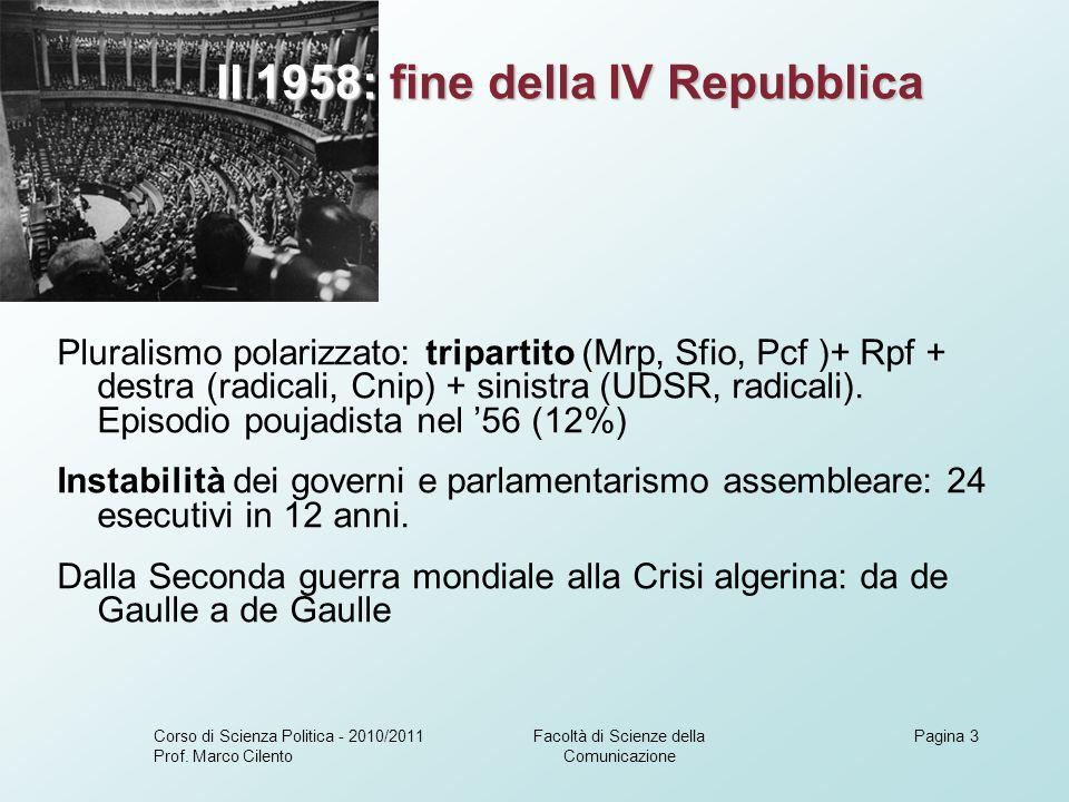 Il 1958: fine della IV Repubblica