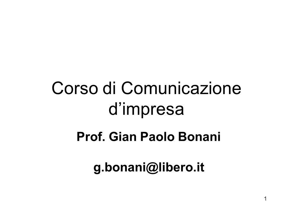 Corso di Comunicazione d'impresa
