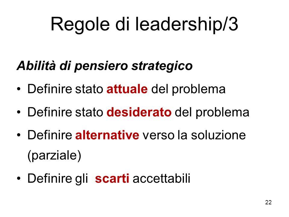 Regole di leadership/3 Abilità di pensiero strategico