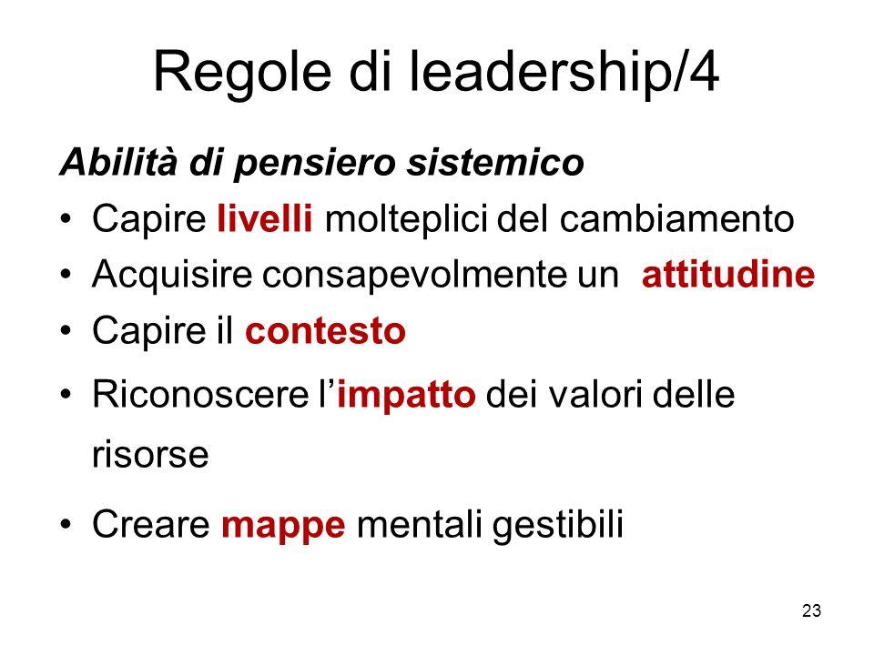 Regole di leadership/4 Abilità di pensiero sistemico