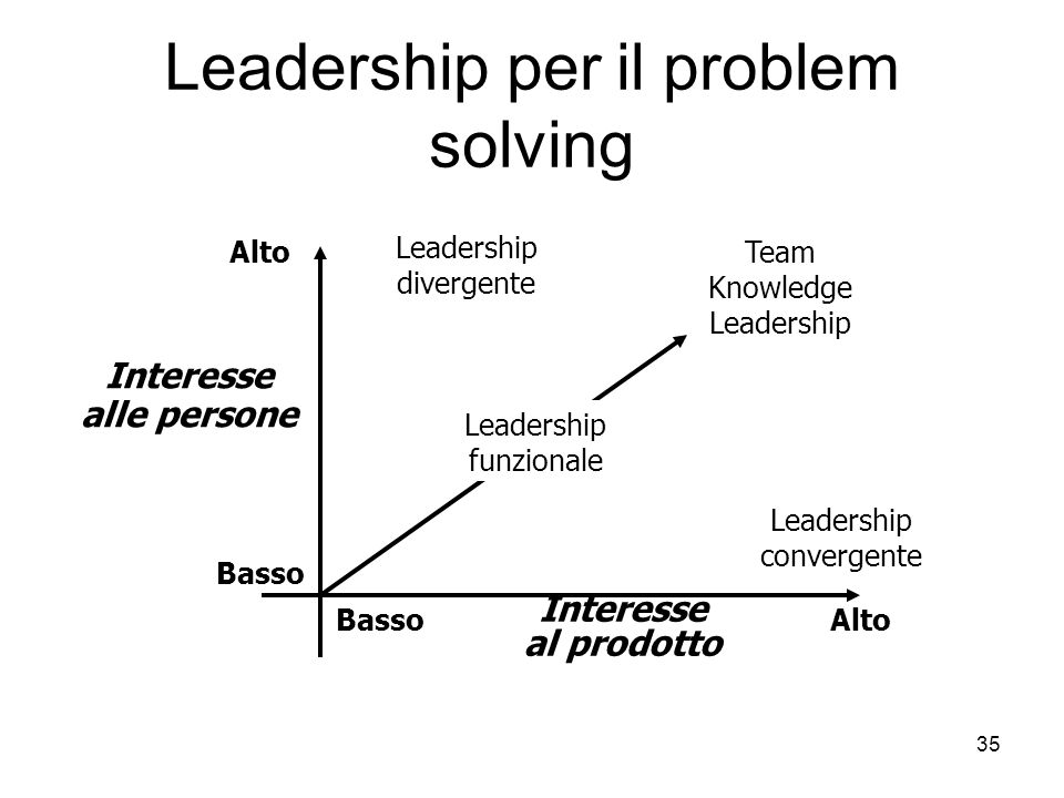 Leadership per il problem solving