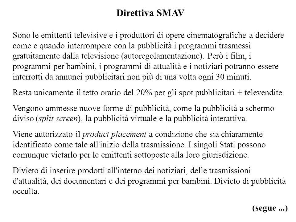 Direttiva SMAV (segue ...)