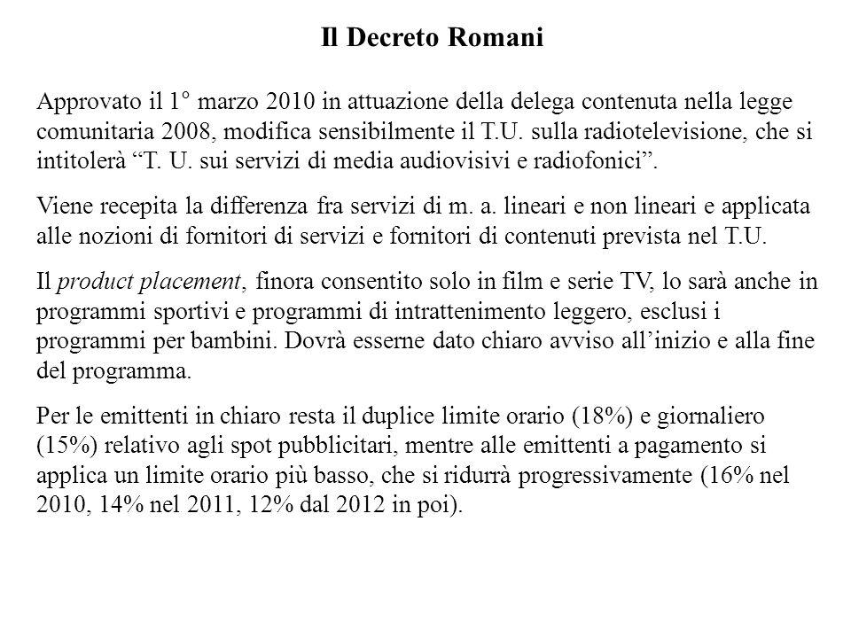 Il Decreto Romani
