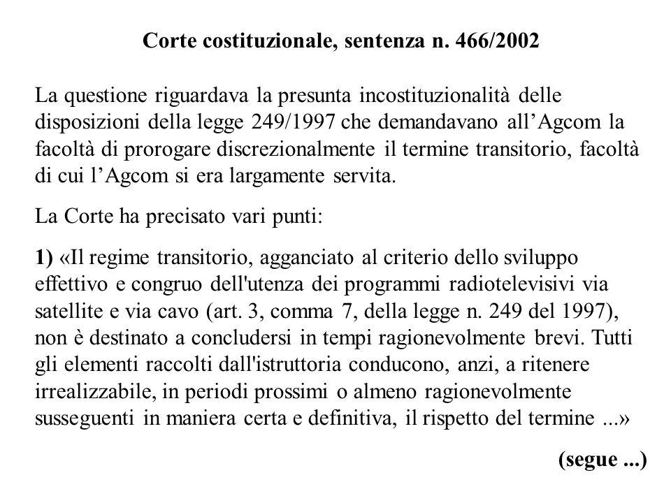 Corte costituzionale, sentenza n. 466/2002