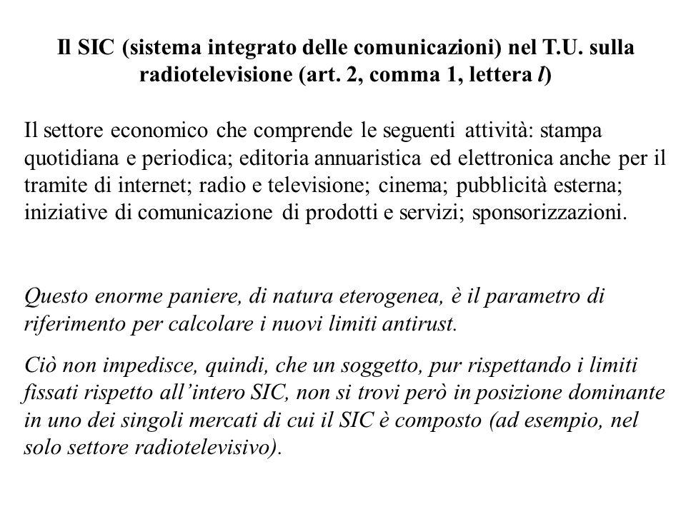 Il SIC (sistema integrato delle comunicazioni) nel T. U