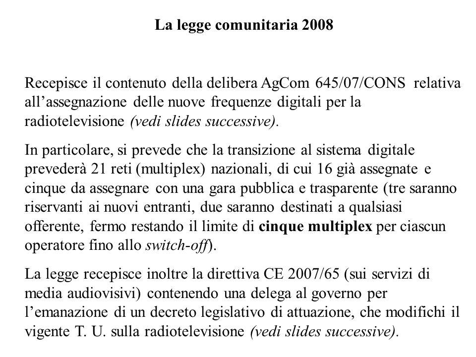 La legge comunitaria 2008