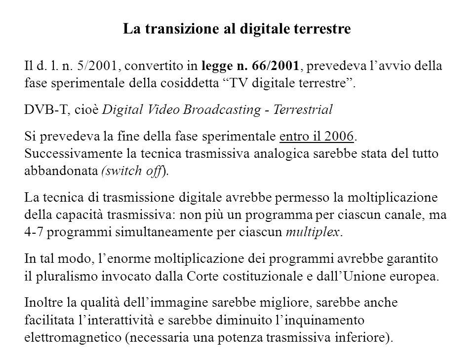 La transizione al digitale terrestre