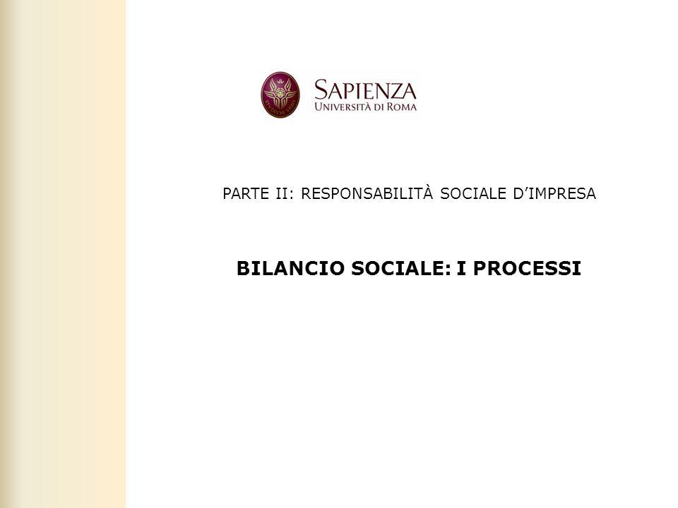 BILANCIO SOCIALE: I PROCESSI