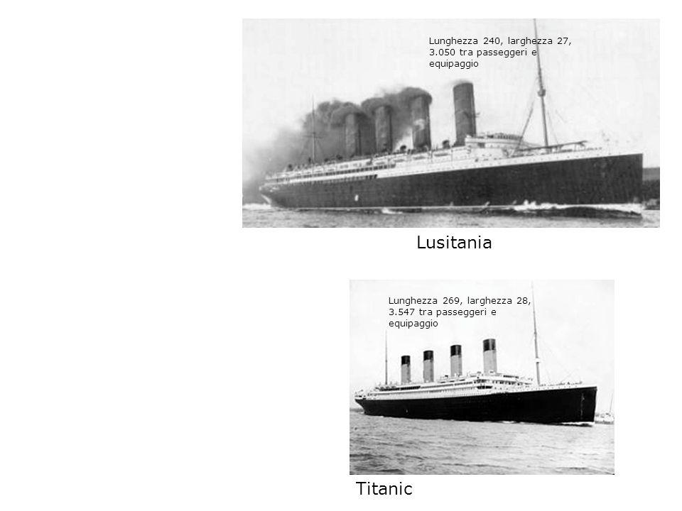 Lunghezza 240, larghezza 27, 3.050 tra passeggeri e equipaggio