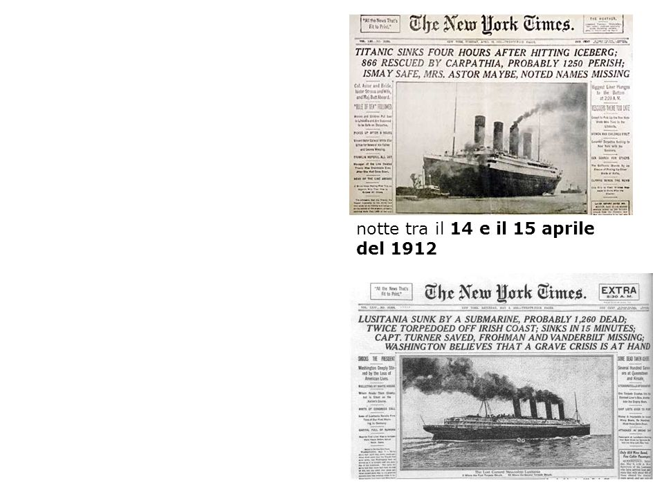 notte tra il 14 e il 15 aprile del 1912
