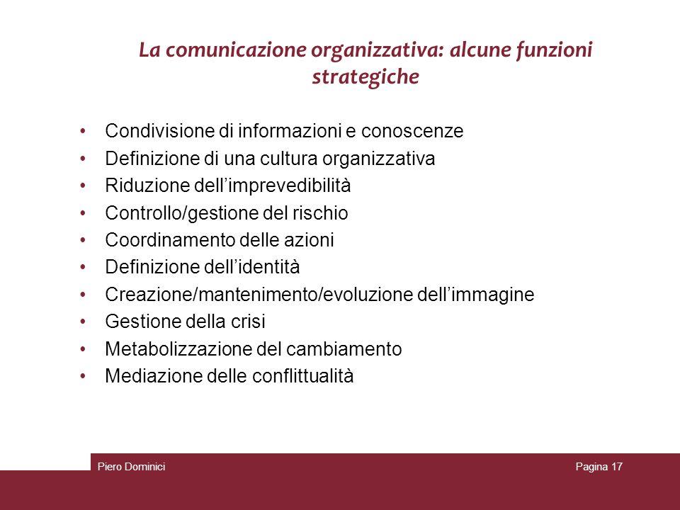 La comunicazione organizzativa: alcune funzioni strategiche