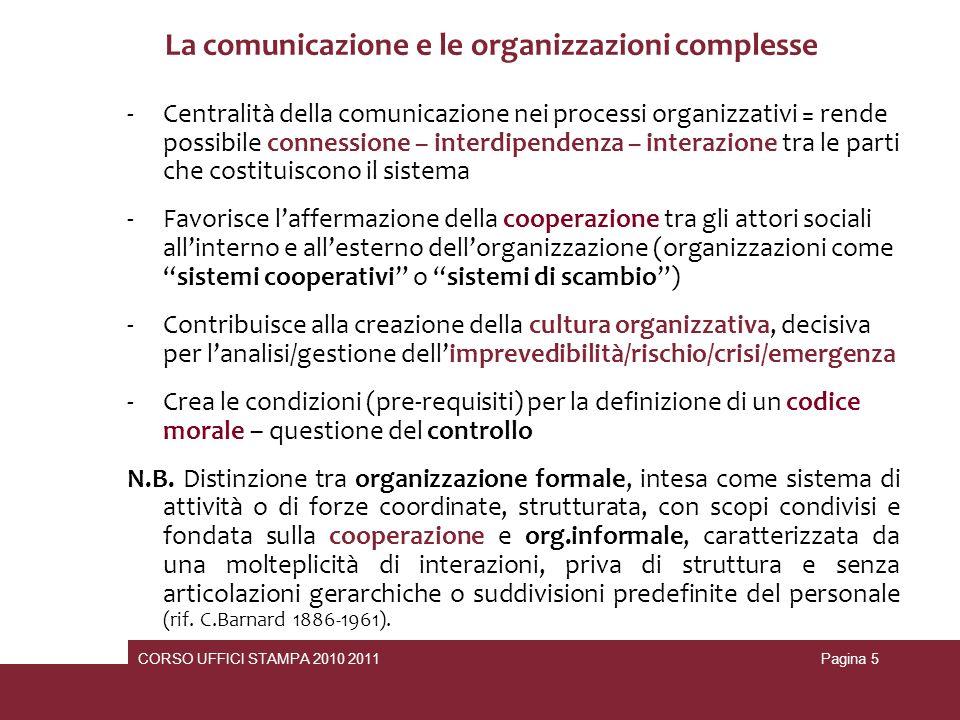 La comunicazione e le organizzazioni complesse