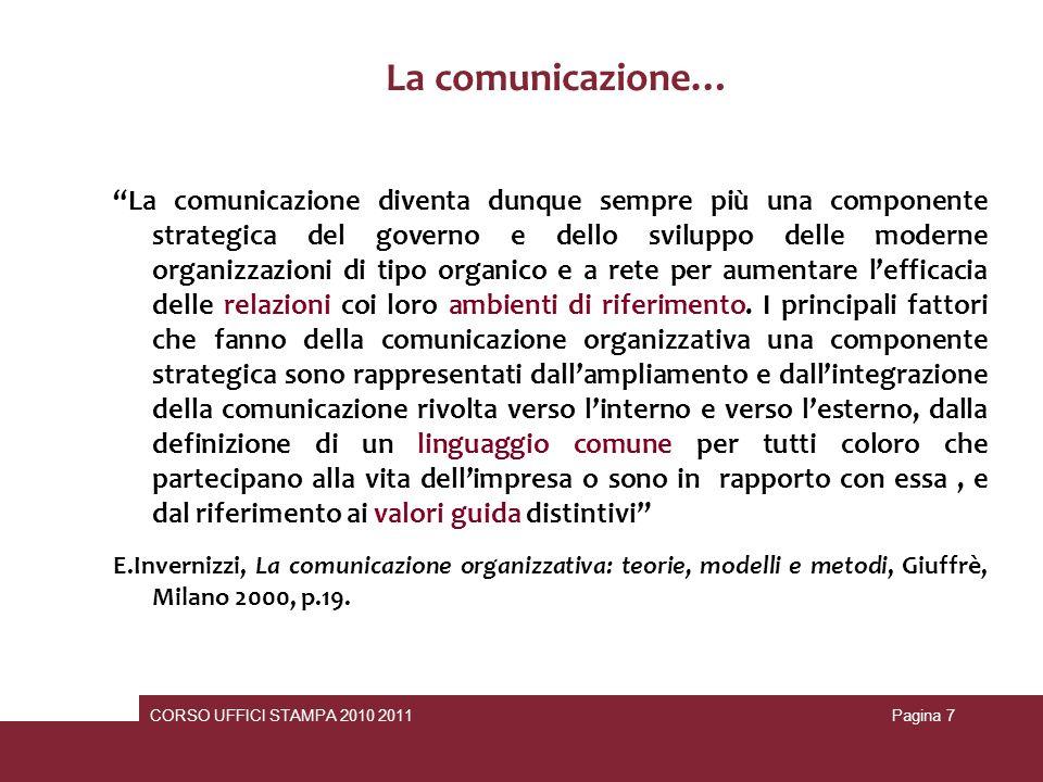 La comunicazione…