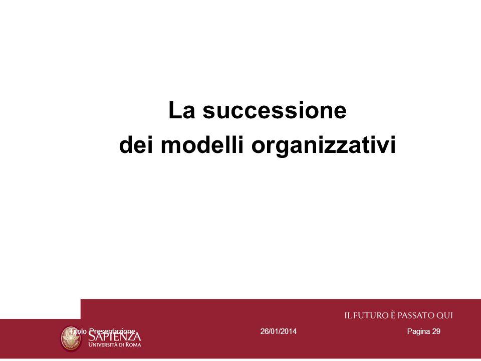 dei modelli organizzativi