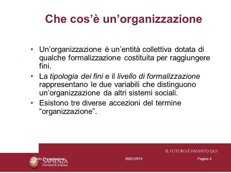Che cos'è un'organizzazione