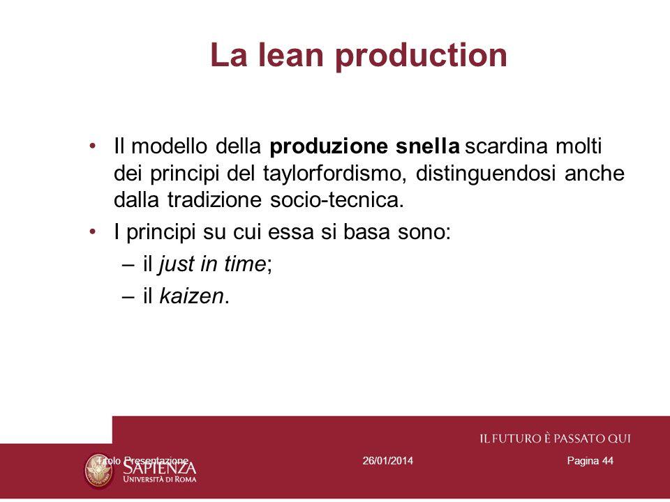 La lean production