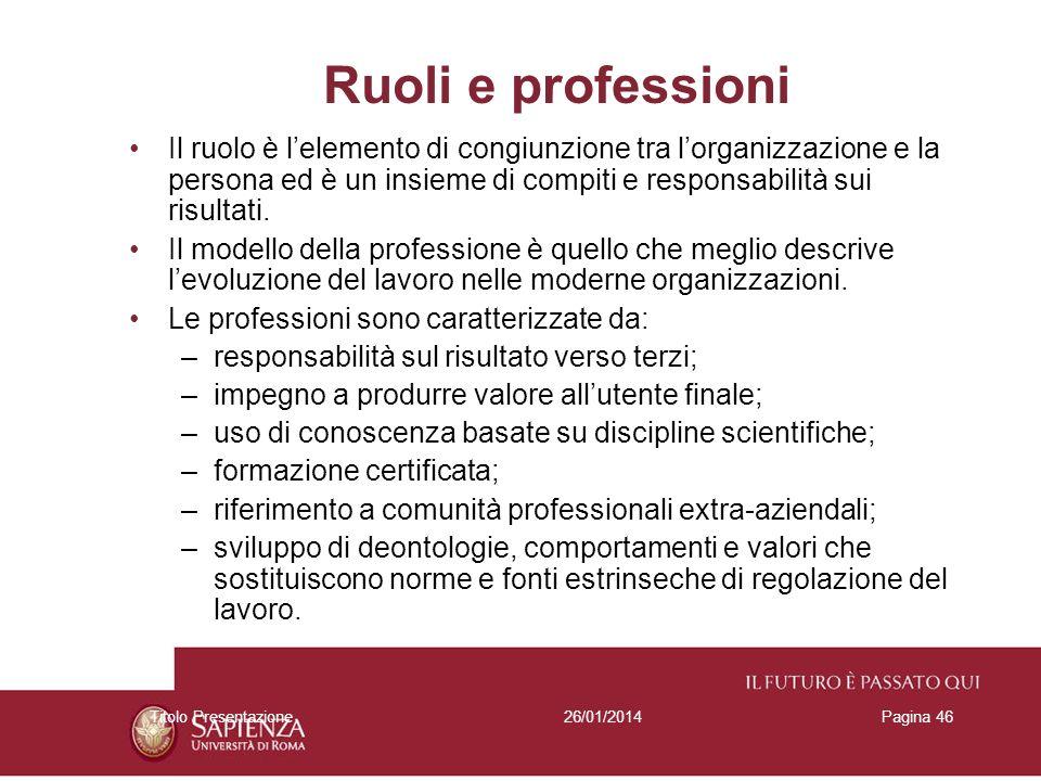 Ruoli e professioni