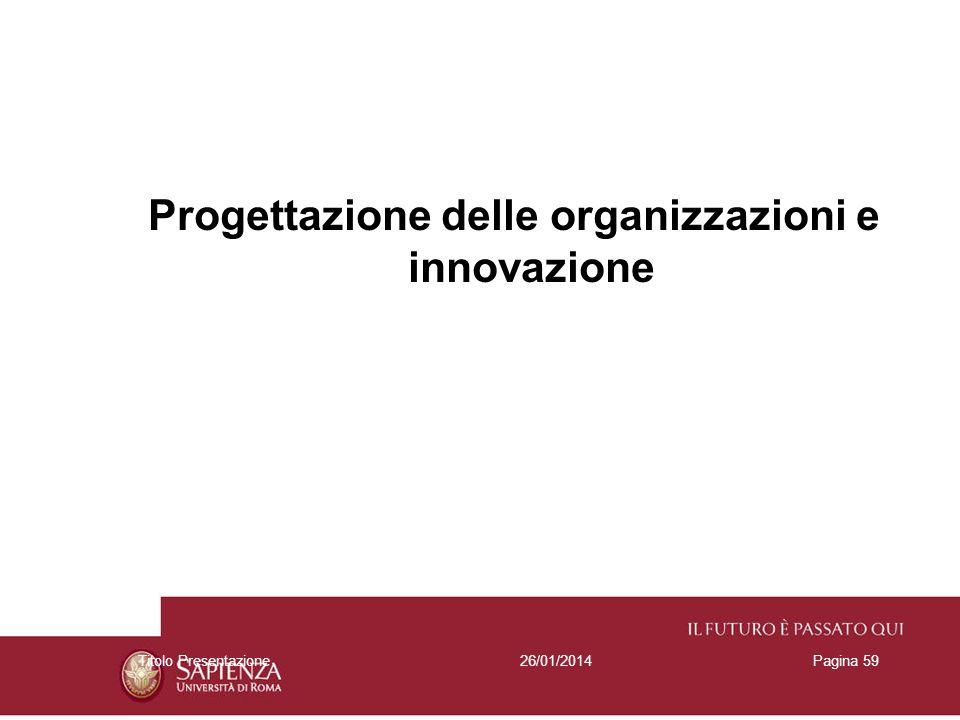 Progettazione delle organizzazioni e innovazione