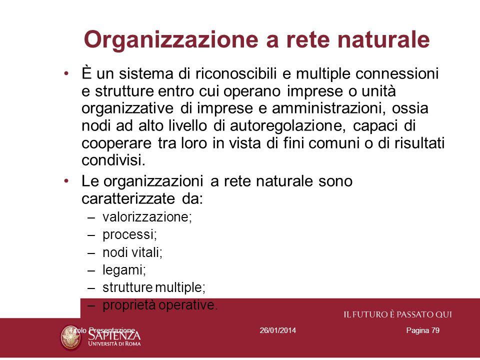 Organizzazione a rete naturale