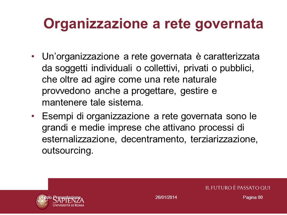 Organizzazione a rete governata
