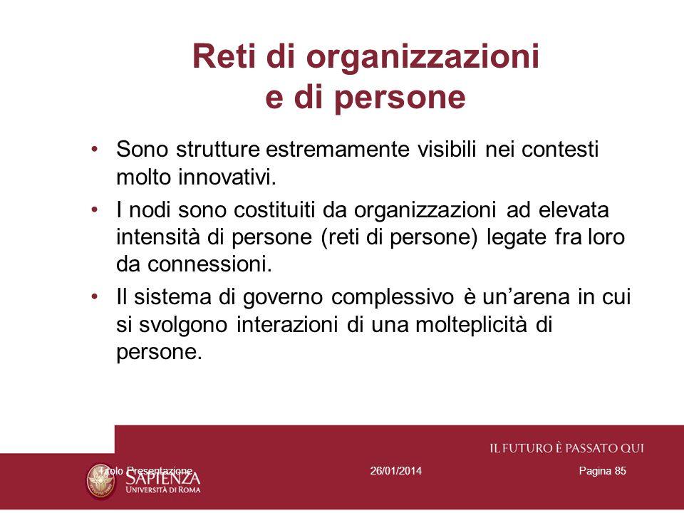 Reti di organizzazioni e di persone