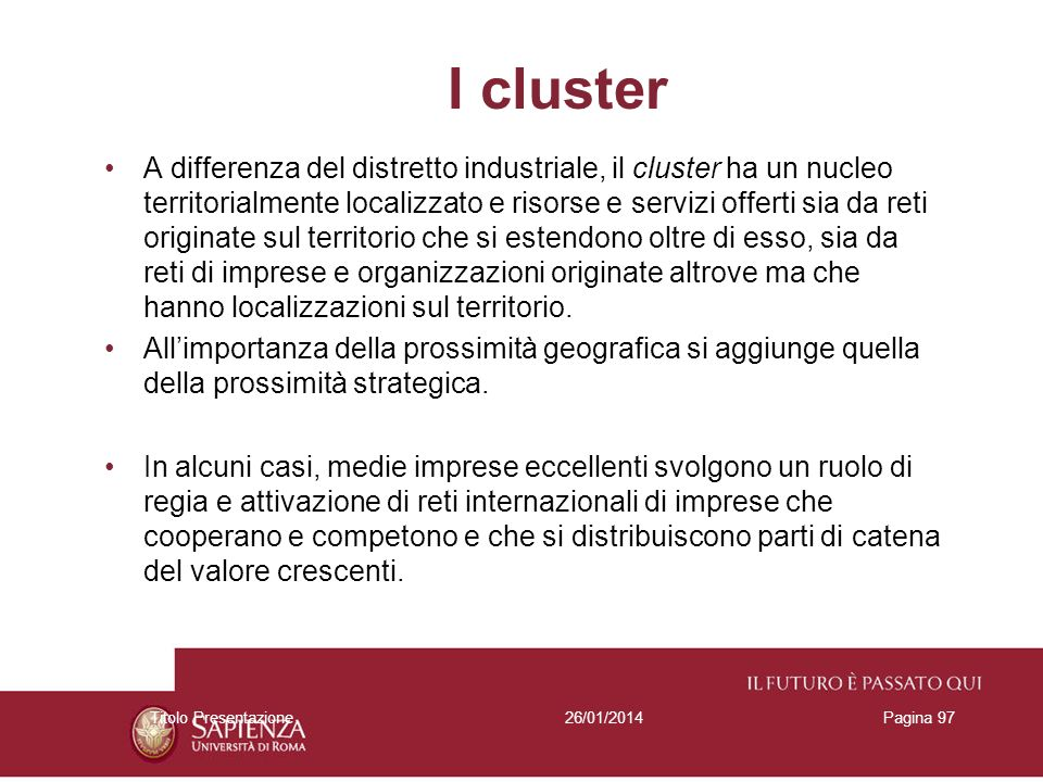 I cluster