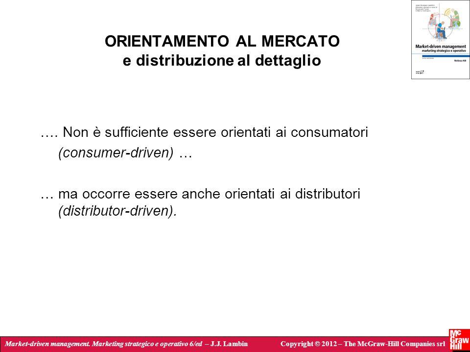 ORIENTAMENTO AL MERCATO e distribuzione al dettaglio
