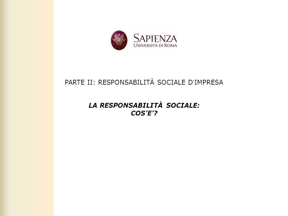 LA RESPONSABILITÀ SOCIALE:
