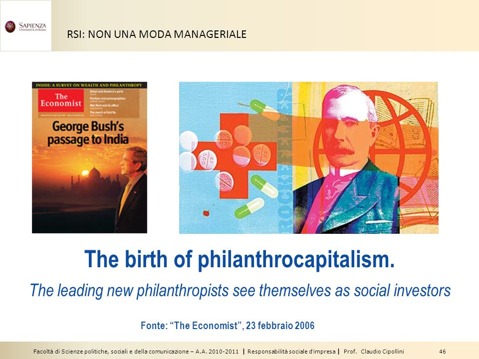 The birth of philanthrocapitalism.