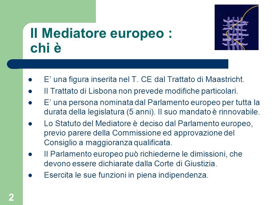 Il Mediatore europeo : chi è