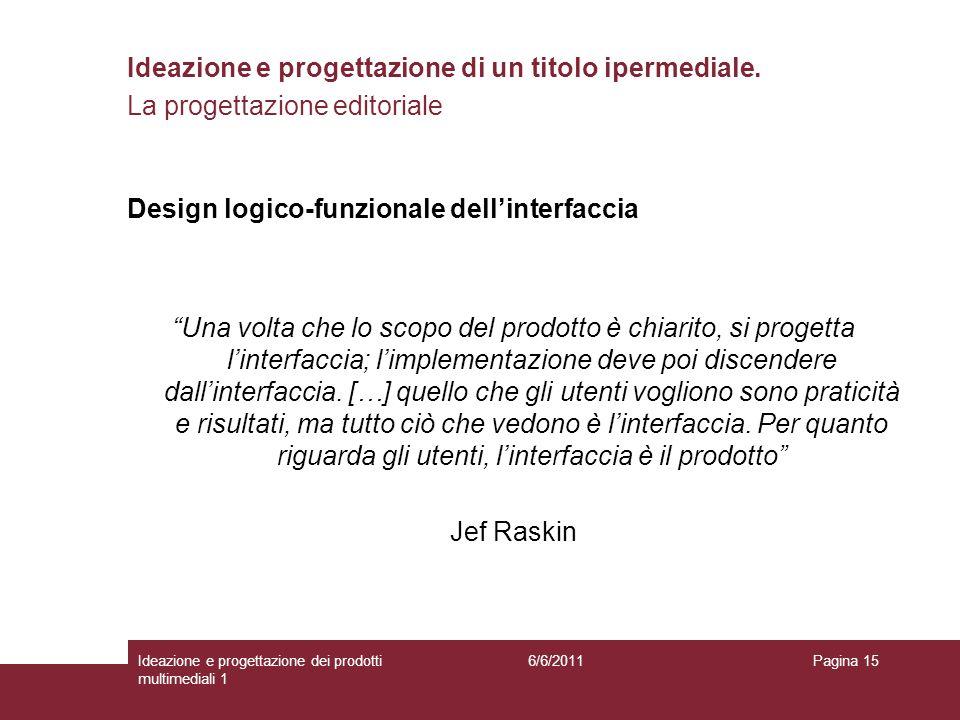 Design logico-funzionale dell'interfaccia
