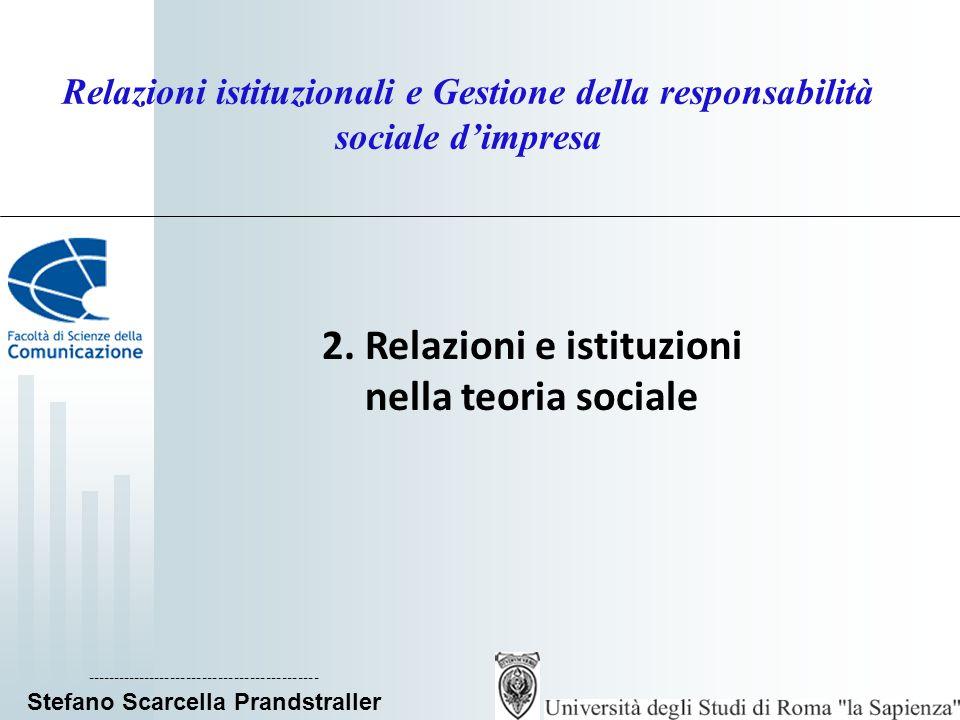 2. Relazioni e istituzioni