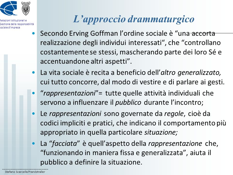 L'approccio drammaturgico