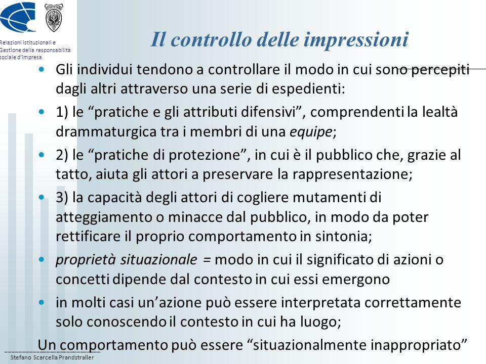 Il controllo delle impressioni