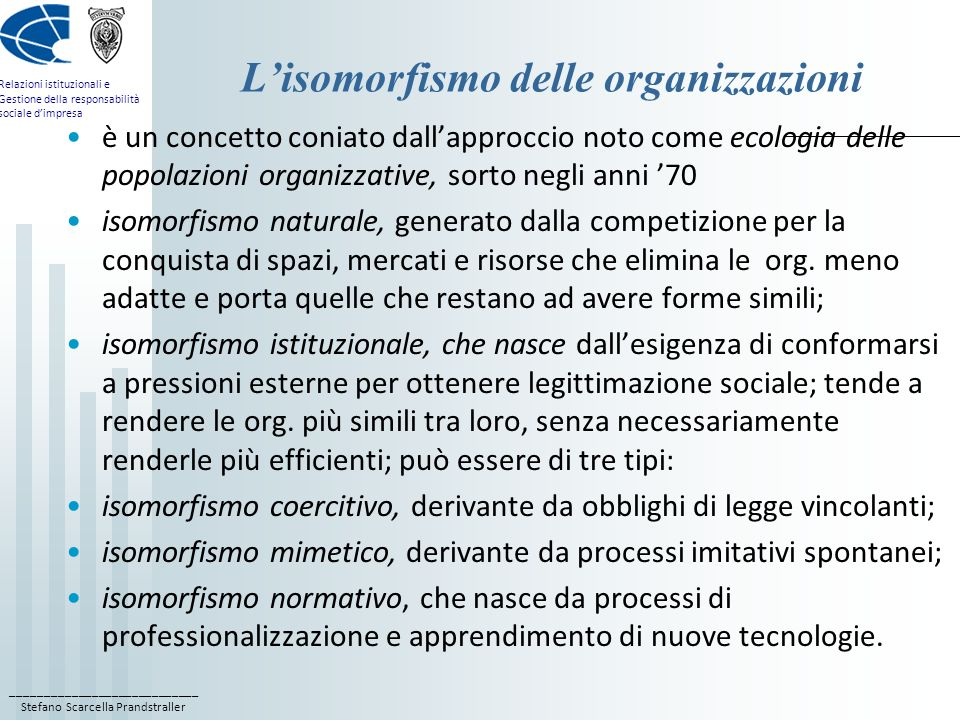 L'isomorfismo delle organizzazioni