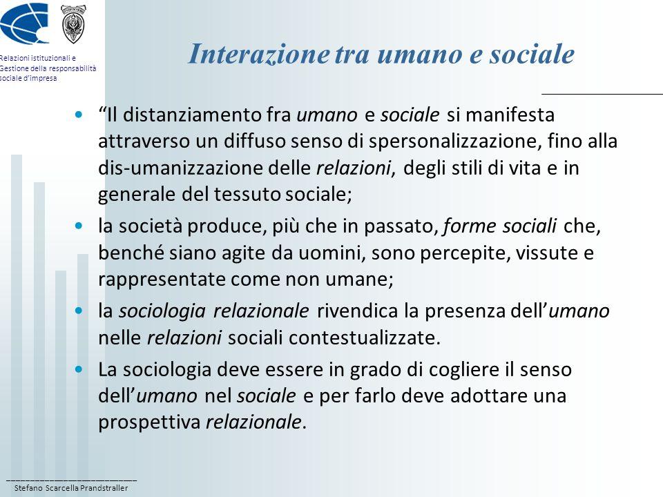 Interazione tra umano e sociale