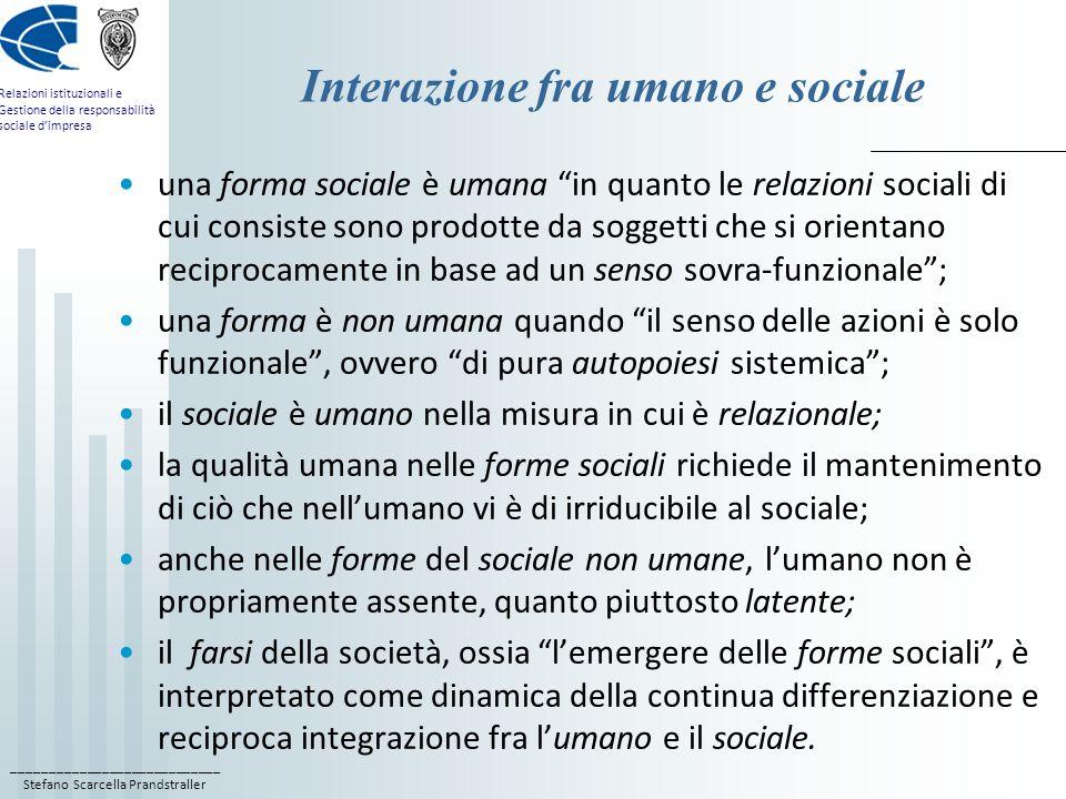 Interazione fra umano e sociale