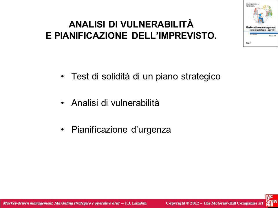 ANALISI DI VULNERABILITÀ E PIANIFICAZIONE DELL'IMPREVISTO.
