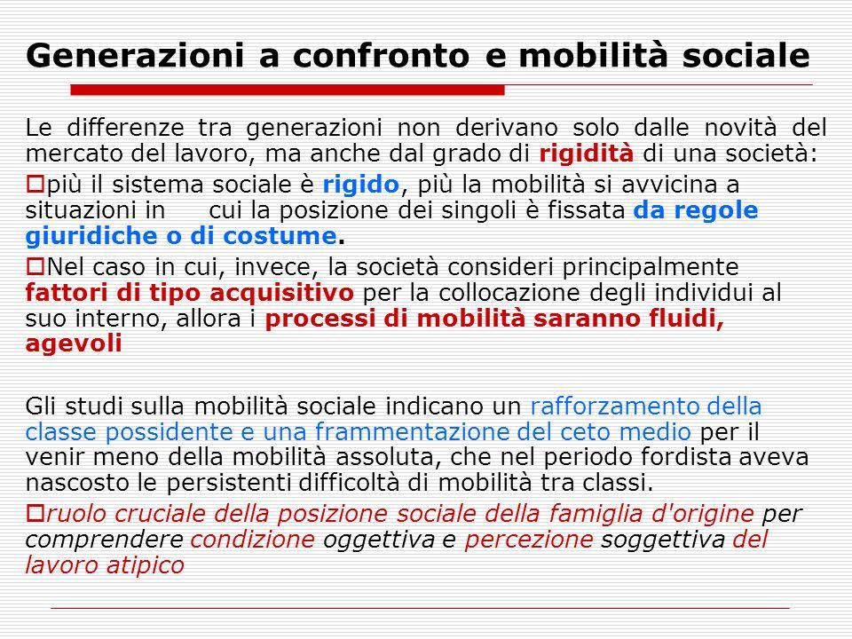 Generazioni a confronto e mobilità sociale
