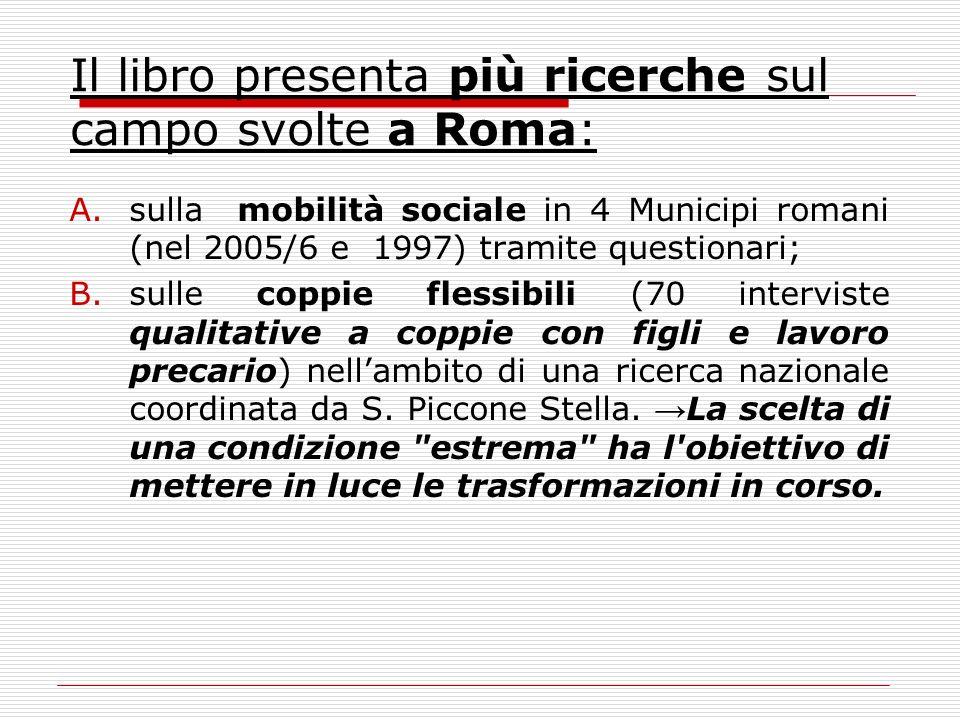 Il libro presenta più ricerche sul campo svolte a Roma: