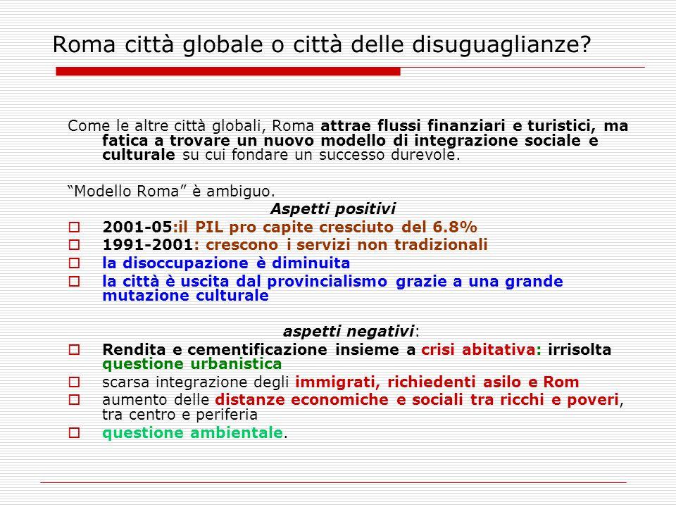 Roma città globale o città delle disuguaglianze