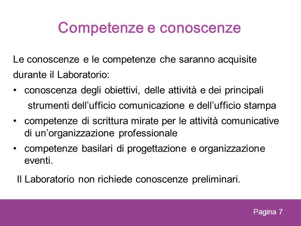 Competenze e conoscenze