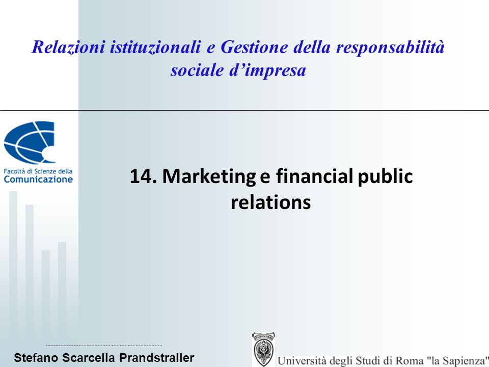 14. Marketing e financial public relations