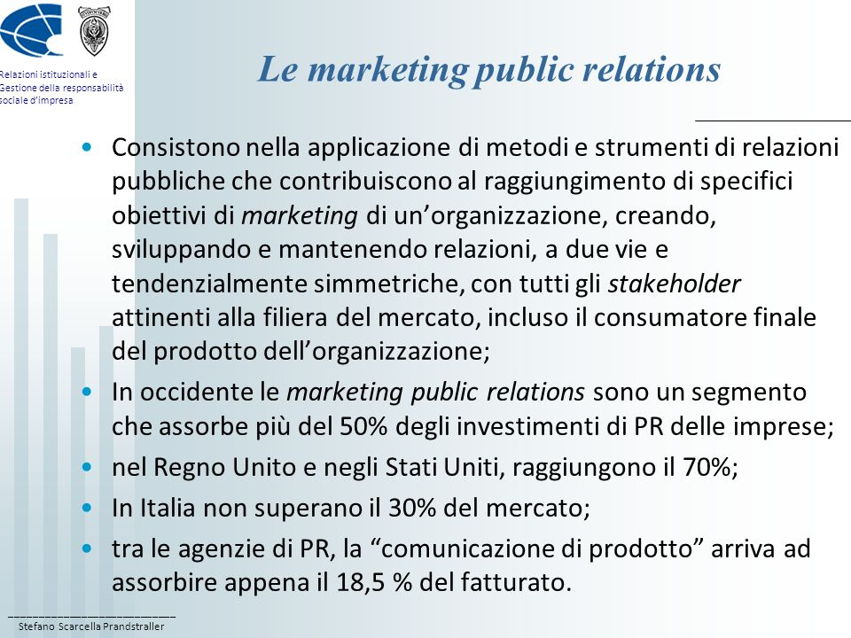 Le marketing public relations