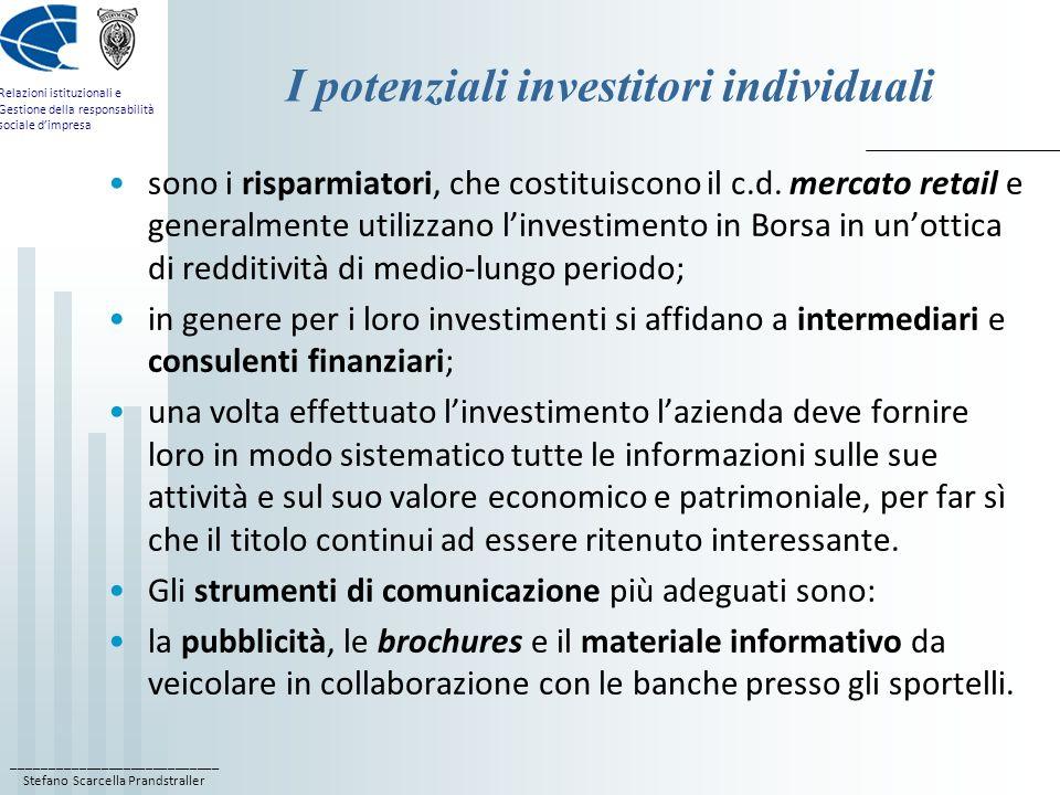 I potenziali investitori individuali