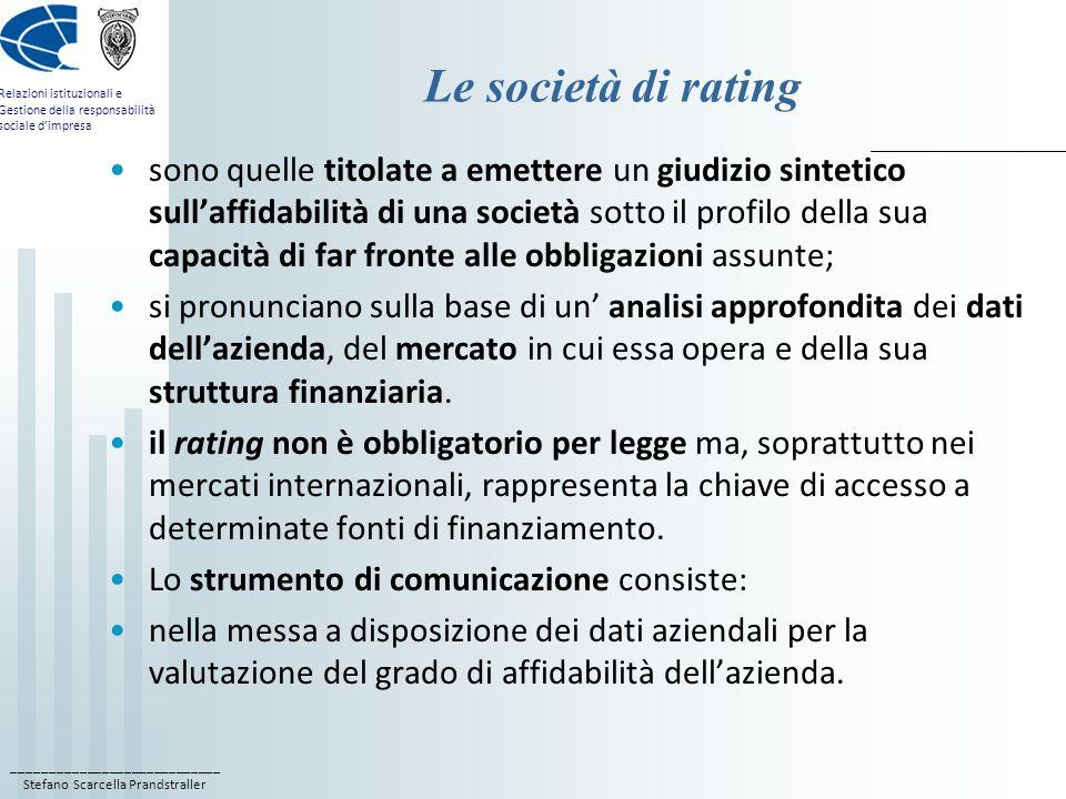 Le società di rating