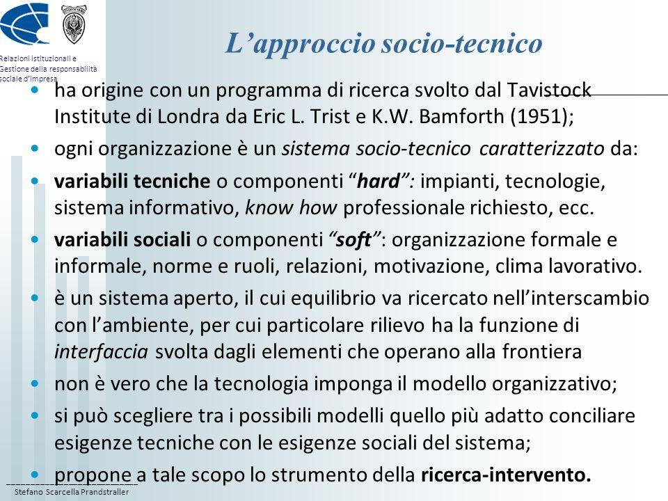 L'approccio socio-tecnico