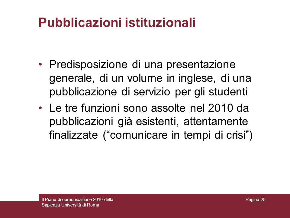 Pubblicazioni istituzionali