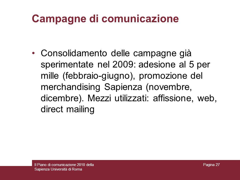 Campagne di comunicazione
