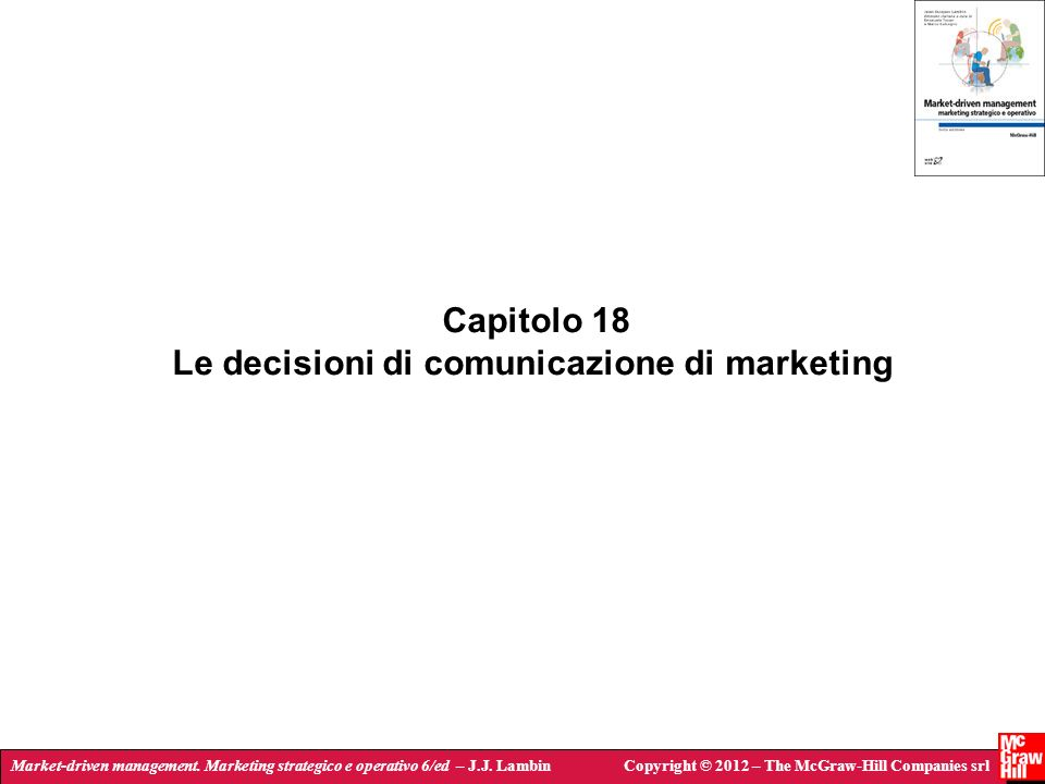 Le decisioni di comunicazione di marketing